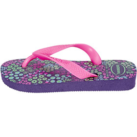 havaianas Flores Flips Kids New Purple